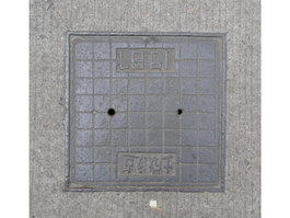 Ductile cast iron sewer cover texture