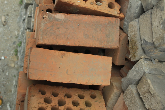 Piling Up of fire brick texture