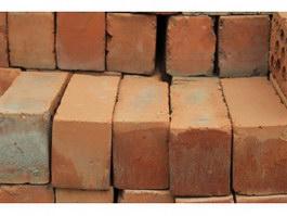 Stacking clay brick texture