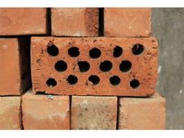 Perforated cellular brick texture