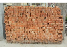 Piles of fire perforated brick texture