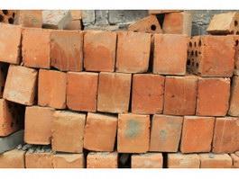 Red bricks neatly arranged texture