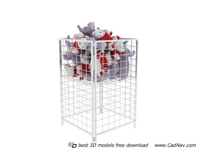 Supermarket Metal Storage Cages 3d rendering