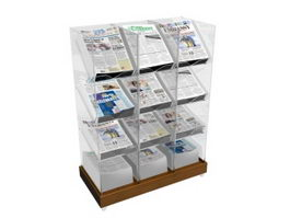Magazine and Newspaper Shelving 3d preview