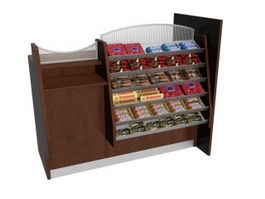 Supermarket Candy Display Stand 3d preview