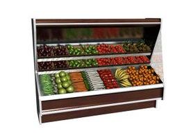 Vegetable display refrigerator 3d preview