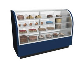 Refrigerated cake showcase 3d preview