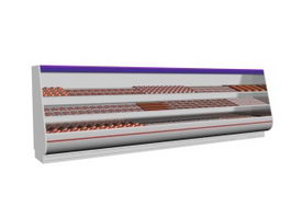 Platform meat display freezer 3d preview
