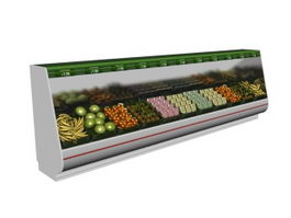 Fruit and Vegetable display freezer 3d preview