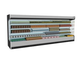 Supermarket Display Refrigerator Showcase 3d preview