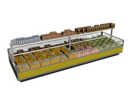 Open Display Refrigerator 3d preview