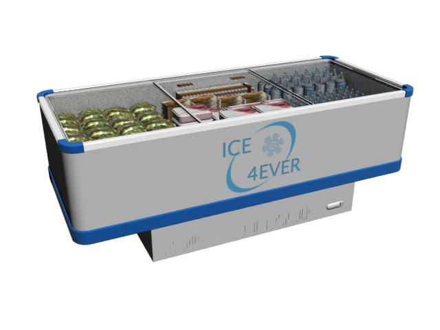 Large deep freezer 3d rendering