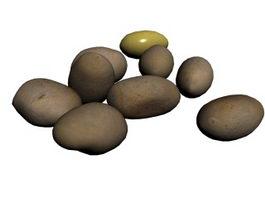 Russet Potato 3d preview