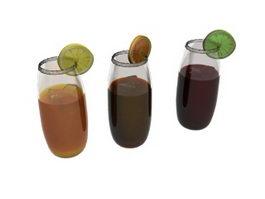 Fruit Juice Beverage 3d model preview