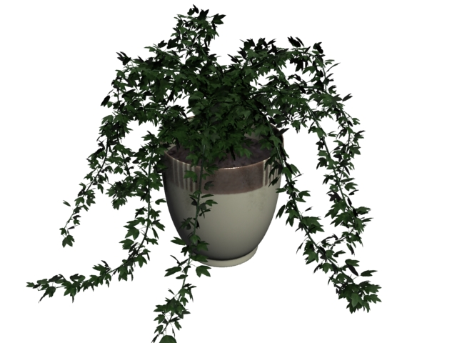 Potted patio plant 3d rendering