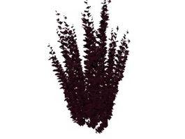 Purple shrub 3d model preview