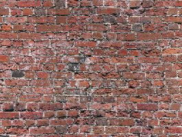 Old red brick wall HD texture