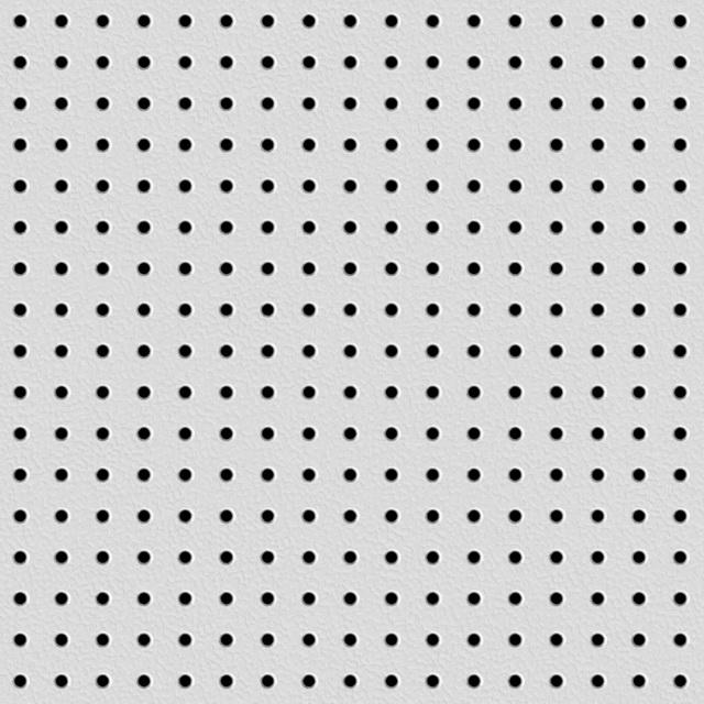 Perforated plastic texture