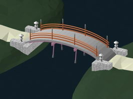 Arch footbridge 3d preview