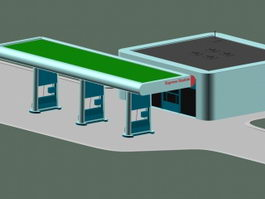 Express gas station 3d preview