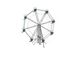 Amusement ferris wheel 3d preview