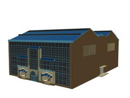 Industrial building workshop 3d preview