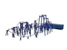 Amusement park roller coaster 3d preview