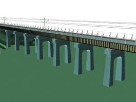 Railway bridge 3d preview
