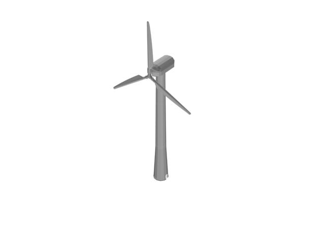 Wind turbine tower 3d rendering