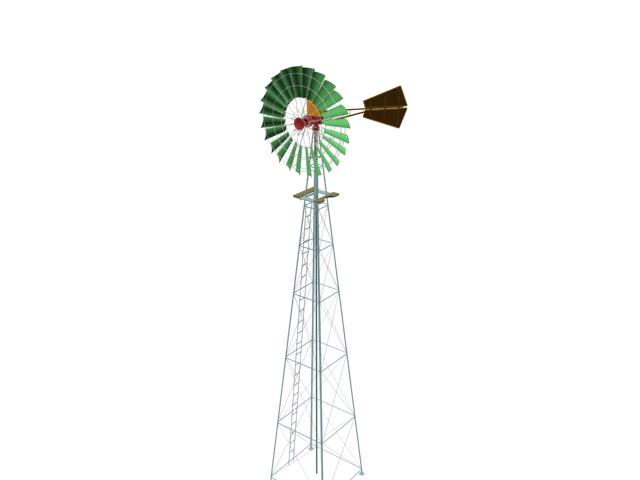 Wind power turbine units 3d rendering