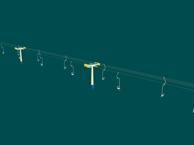 High voltage transmission lines 3d rendering