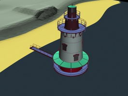 Radio beacon station 3d preview