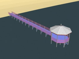 Beach Viewing platform 3d preview