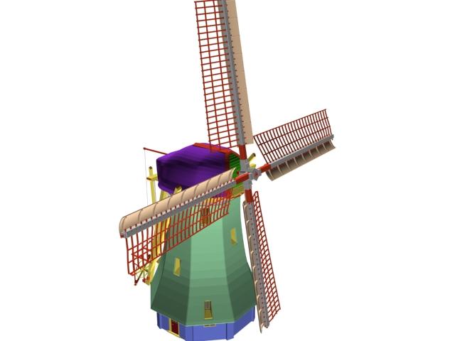 Big Windmill 3d rendering