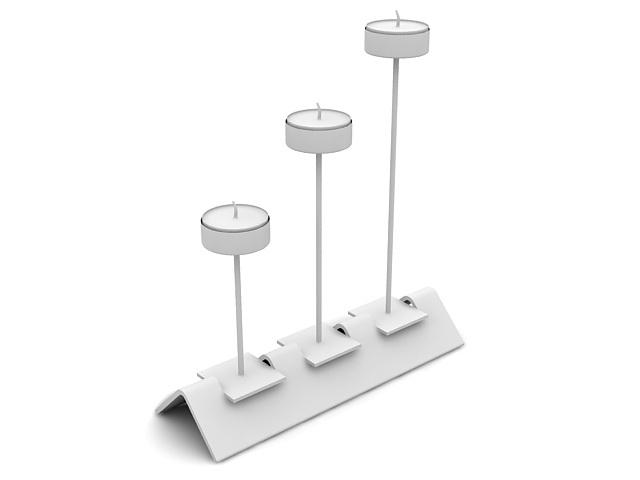 Candlestick holder 3d rendering