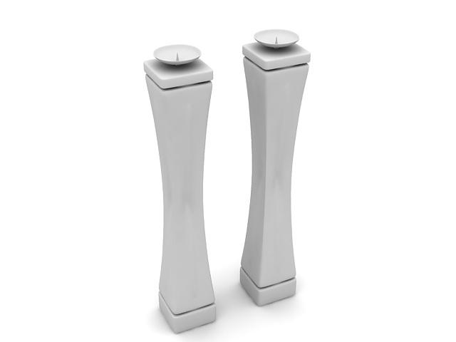 Ceramic candlestick holder 3d rendering