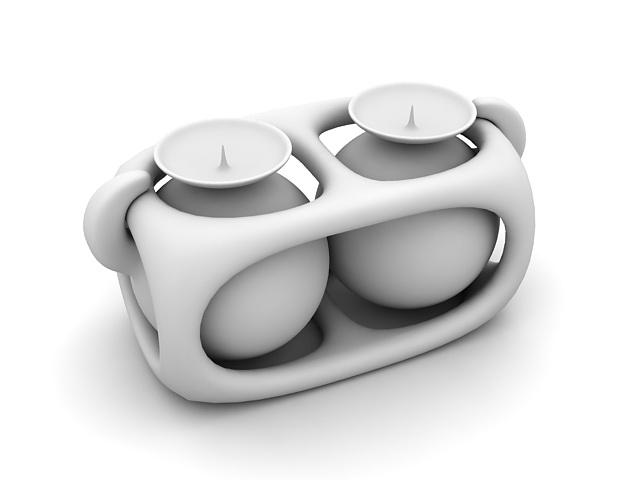 Candle jar 3d rendering