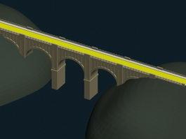 River-crossing bridge 3d model preview