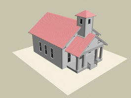 Residential house 3d model preview