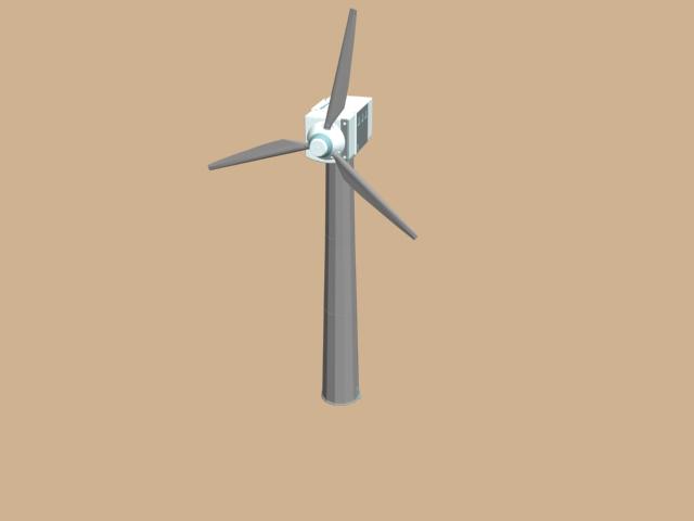 Wind turbine generator unit 3d rendering