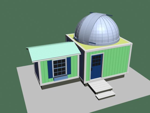 Surveillance radar station 3d rendering