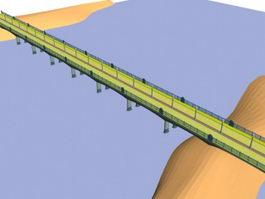 Reinforced concrete road bridge 3d model preview