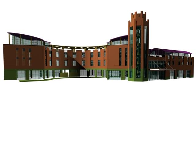 CBD Office building 3d rendering