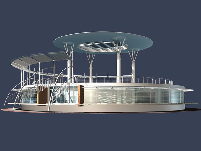 Tech plaza building 3d rendering