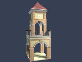 Church bell tower 3d preview