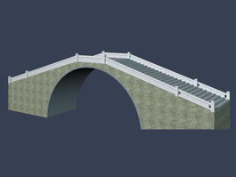 Stone arch bridge 3d preview