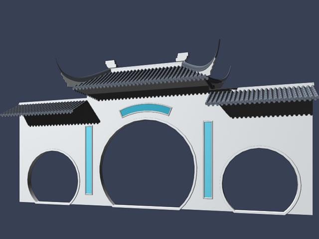 Ancient building front door 3d rendering