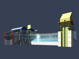Modern entrance hall 3d model preview