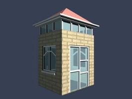 Gatehouse front door 3d preview