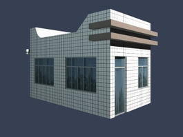 Gate house of entrance 3d preview